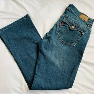 Levi's 542 low rise flare